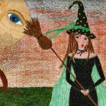 """""""Whimsical Witch"""" by pamellajo"""