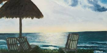 Morning Meditation Cancun 10x20 on canvas panel
