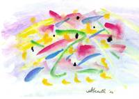 Guppies watercolor