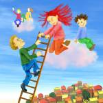 """""""Kids,children, friends,adventure,nursery,blue"""" by MarianneIlevitzky"""