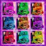 """Autoharp Quilt Pink"" by artistfaye"