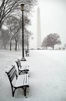 Washington Monument at National Mall after a snow