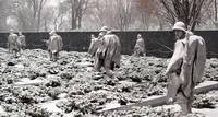 Korean War Memorial Snow Storm