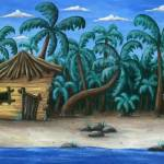 """beach hut"" by illustratorheidi"