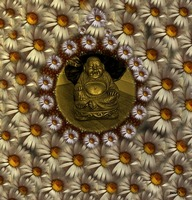 BUDDHA WITH FLORAL SUNSHINE