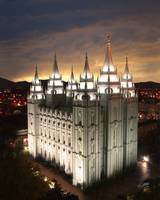 Salt Lake Temple Cloudy Sunset