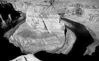 Horseshoe Bend in Black and White