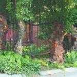 """Whimsical Brick Fence"" by dav820"