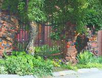 Whimsical Brick Fence
