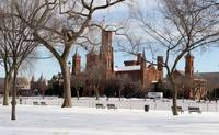 Smithsonian Institution building winter snow