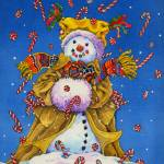 """CandyCaneSnowman"" by wendyedelson"