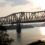 """Train Bridge Ohio River"" by sherryswest"