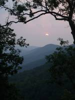 North Georgia Mountain Misty Sunset