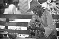 a jamaican and his guitar