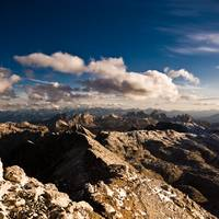 View from Piz Boe dolomites italy