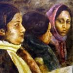 """""""Tre donne 55x50 olio su tela"""" by paolo"""
