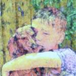 """A Boy and His Dog"" by krysshaw"