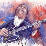 """Jazz B B King 05 Red"" by shevchukart"