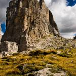 """One of the Cinque Torri near Cortina."" by peterwey"