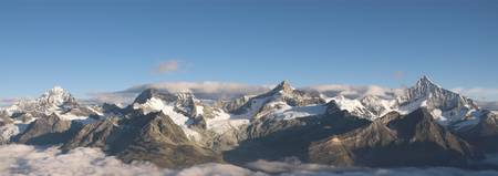 Mountain range above Zermatt