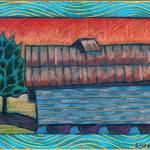 """Barn Near Polecat Creek"" by simmonsfineart"