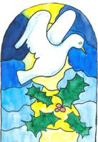 Dove Stainglass Window