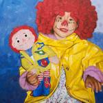 """Two Dolls (Because of Marnie and Stephen King)"" by KarenYeeFineArt"