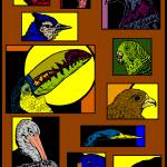 """The Many Faces of Birds"" by birdartprints"