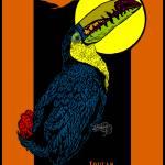 """Toucan and Full Moon"" by birdartprints"