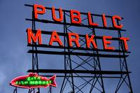 Public Market Sign, Seattle