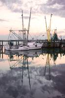 Reflection of a Shrimp Boat