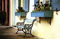 Rainbow Row Bench