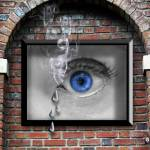 """Smoking Eye Poster"" by terrischindler"