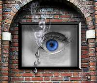 Smoking Eye Poster