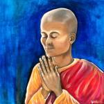 """Praying Monk"" by artofheather"