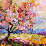 """Pink Blossom Tree Oil Painting by Ginette Callaway"" by GinetteCallaway"