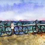 """Wellfleet Bikes"" by schulmanart"