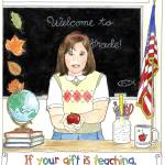 """""""Apple for the Teacher"""" by visionsandverses"""