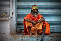 Sadhu in the Light of Dawn