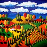 """Colorful Fall Landscape"" by reniebritenbucher"