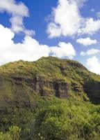 The beautiful hills in Kauai