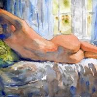 Deep Shadows, Nude Female Art Art Prints & Posters by Miriam Schulman