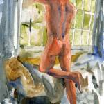 """Window Frame, Male Nude Art"" by schulmanart"