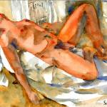 """Spent, Male Nude Art"" by schulmanart"