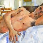 """Comfortable, Male Nude Art"" by schulmanart"