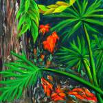 """""Philodendrons"" original acrylic painting"" by marnold"