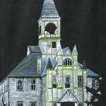 """""Citrus County Courthouse 1900"" Original Drawing"" by marnold"