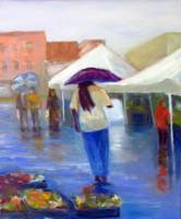 Lady with Purple Umbrella
