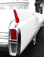 White Cadillac Tail Light