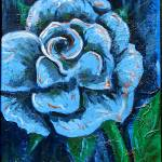 """""Blue Rose"" original acrylic  painting"" by marnold"